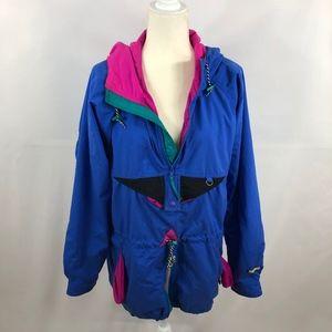 Helly Hansen Vintage Retro 90's Hooded Jacket Sz S